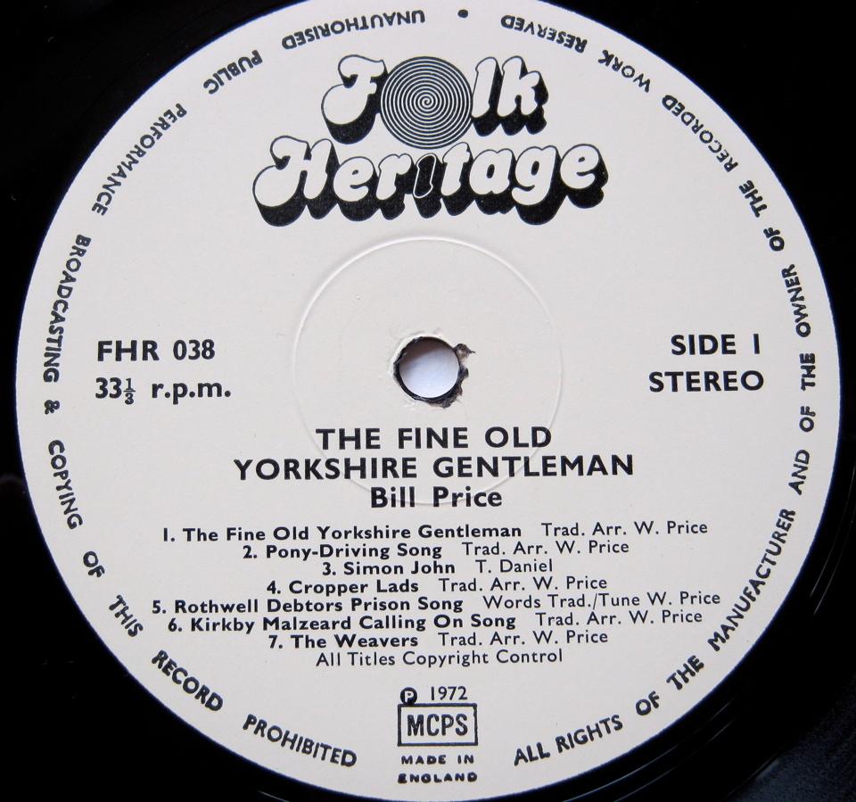 Bill Price - Fine Old Yorkshire Gentleman